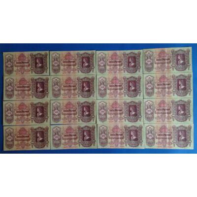 1930 100 pengő csillagos, 16 db sorszámkövető bankjegy