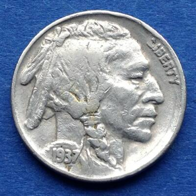 1937 5 cent Buffalo Nickel amerikai érme