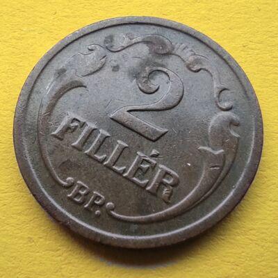 1940 2 fillér érme Numizmatika - Érmék, érme
