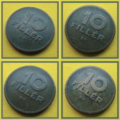 1946-47-48-50 10 fillér érme sor