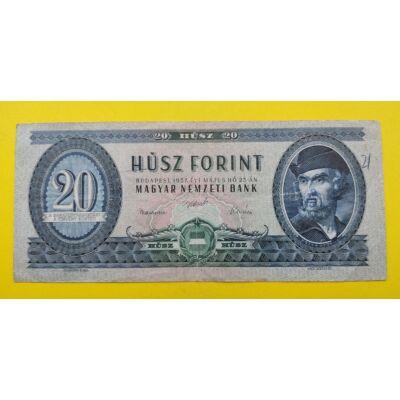 1957 20 forint  fine bankjegy Numizmatika - bankjegyek