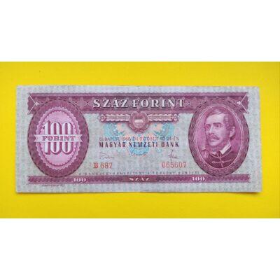 1968 100 forint bankjegy (Kicsi aláírás)
