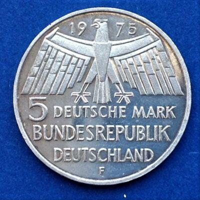 1975 NSZK ezüst emlék 5 márka érme F verdejel