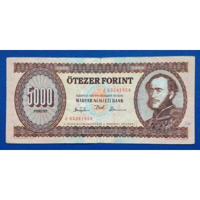 1993 5000 Forint J sorozat VF
