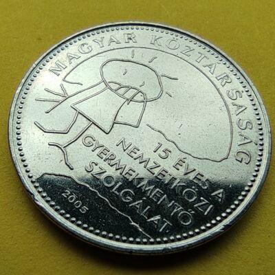 2005 50 forint Nemzetközi gyermekmentő szolgálat verdefényes emlékérme rollniból