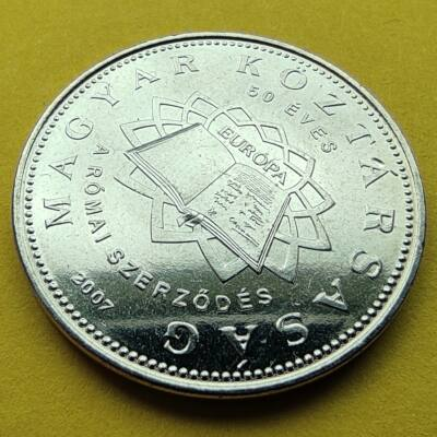 2007 50 forint Római szerződés verdefényes emlékérme rollniból Numizmatika - Érmék, érme