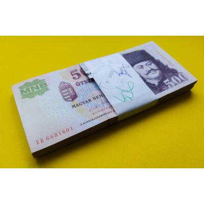 2011 500 forint EB sorozat 100 db UNC sorszámkövető bakjegy köteg Numizmatika - bankjegyek