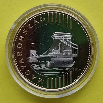 2014 200 forint PP érme forgalomba szánt rollniból kapszulában Numizmatika - Érmék, érme