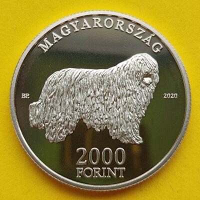 2020 2000 forint proof Komondor emlék érme tükörveret PP Numizmatika - Érmék, érme