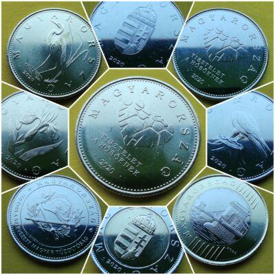 2020 Forint forgalmi érme sor 9 db-os teljes szett, verdefényes Numizmatika - Érmék, érme