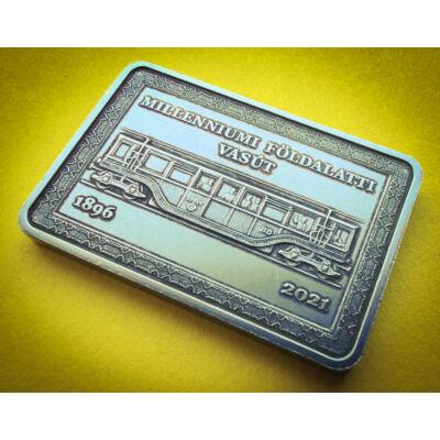2021 2000 forint 125 éves Millenniumi földalatti vasút emlék érme