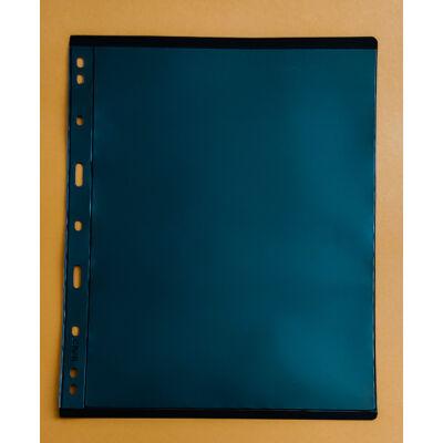 Bankjegytartó berakó lapok. 1 férőhely, Merev tartású, kétoldalas, fekete háttérrel. A4-es méretben