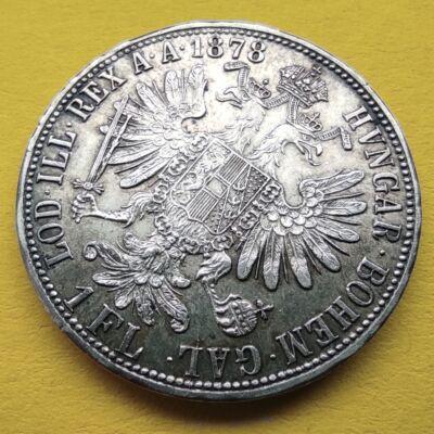 1878 1 Florin Ferencz József ezüst érme Numizmatika - Érmék, érme