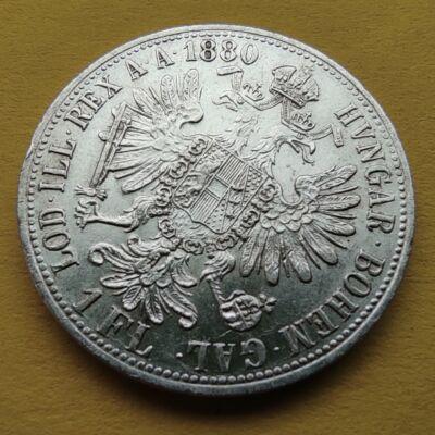 1880 1 Florin Ferencz József ezüst érme Numizmatika - Érmék, érme