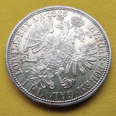 1885 1 Florin Ferencz József ezüst érme Numizmatika - Érmék, érme