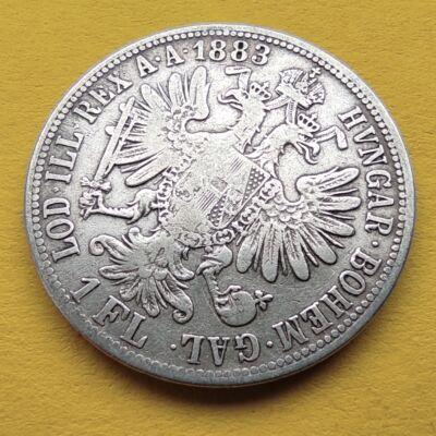 1883 1 Florin Ferencz József ezüst érme VF Numizmatika - Érmék, érme