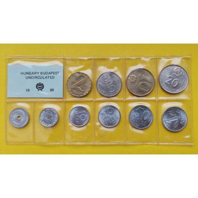 Fóliás Forint érme forgalmi sor 1989-es évjárat 10 db UNC érme Numizmatika - Érmék, érme