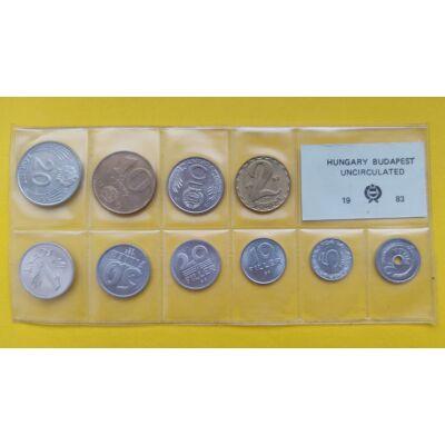 Fóliás Forint érme forgalmi sor 1983-as évjárat 10 db UNC érme Numizmatika - Érmék, érme