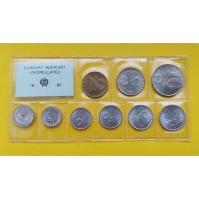 Fóliás Forint érme forgalmi sor 1984-es évjárat 9 db UNC érme