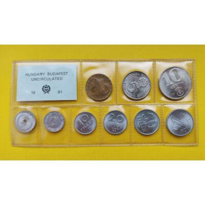 Fóliás Forint érme forgalmi sor 1981-es évjárat 9 db UNC érme Numizmatika - Érmék, érme