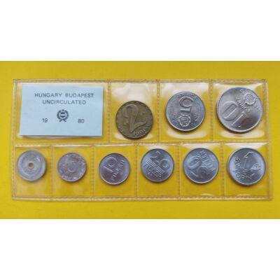 Fóliás Forint érme forgalmi sor 1980-es évjárat 9 db UNC érme