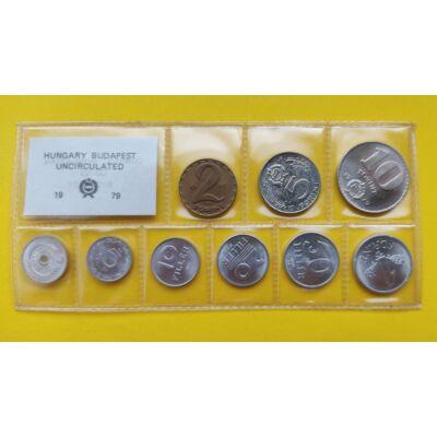Fóliás Forint érme forgalmi sor 1979-es évjárat 9 db UNC érme