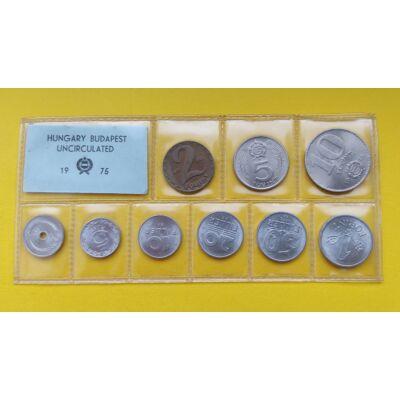 Fóliás Forint érme forgalmi sor 1975-ös évjárat 9 db UNC érme Numizmatika - Érmék, érme