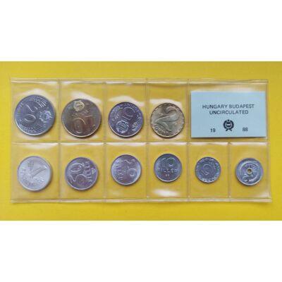 Fóliás Forint érme forgalmi sor 1988-as évjárat 10 db UNC érme