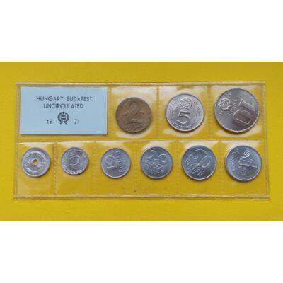 Fóliás Forint érme forgalmi sor 1971-es évjárat 9 db UNC érme