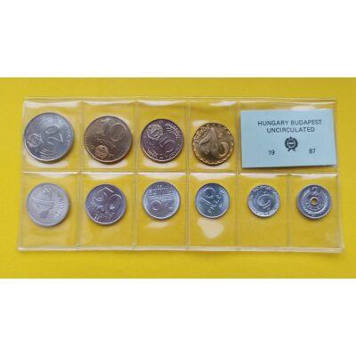 Fóliás Forint érme forgalmi sor 1987-es évjárat 10 db UNC érme Numizmatika - Érmék, érme