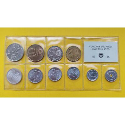 Fóliás Forint érme forgalmi sor 1985-ös évjárat 10 db UNC érme Numizmatika - Érmék, érme