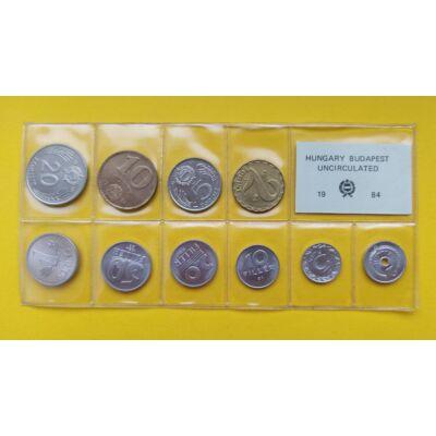 Fóliás Forint érme forgalmi sor 1984-es évjárat 10 db UNC érme Numizmatika - Érmék, érme