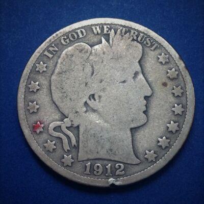 1912 Barber Half Dollar patinás amerikai ezüst érme 12,5 g 0,900