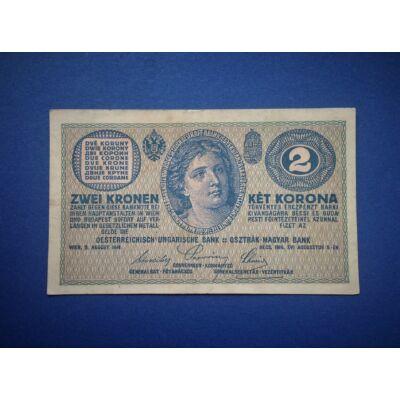 1914 2 korona XF bankjegy
