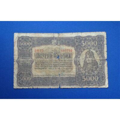 1923 5000 korona bankjegy G Numizmatika - bankjegyek