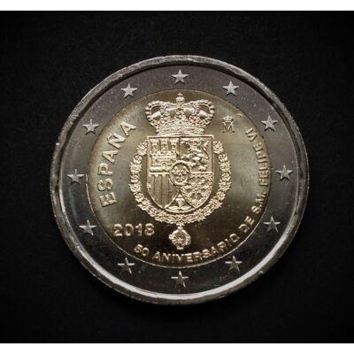 2018 2 euro Spanyolország UNC emlékérme rolniból!