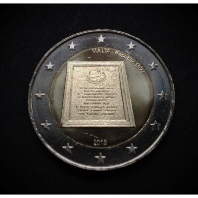 2015 2 euro Málta UNC emlékérme rolniból!