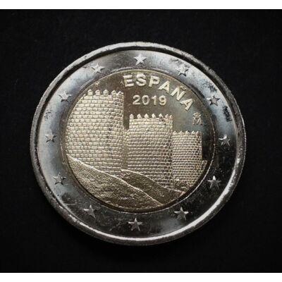 2019 2 euro Spanyolország UNC emlékérme rolniból!