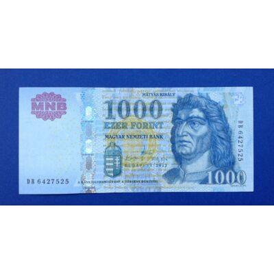 2012 1000 forint DB UNC bankjegy