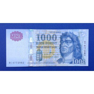 2009 1000 forint DC UNC bankjegy Numizmatika - bankjegyek