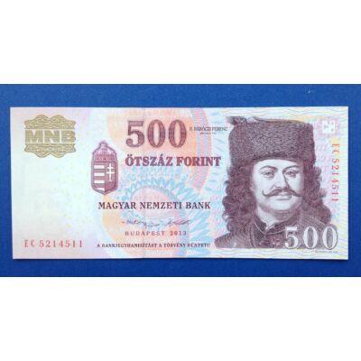 2013 500 forint EC sorozat UNC bankjegy