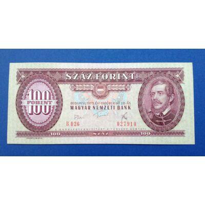 1975 100 forint UNC hajtatlan bankjegy Numizmatika - bankjegyek