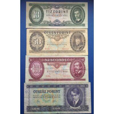 1975-1992 10-50-100-500 4 darabos forint bankjegy sor