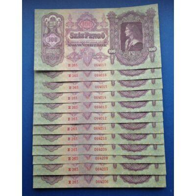 1930 100 pengő 12 db sorszámkövető aUNC bankjegy