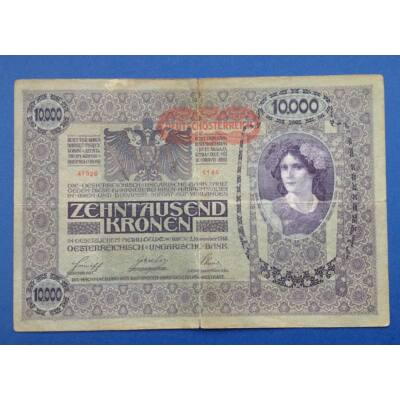 1918 10000 korona bankjegy