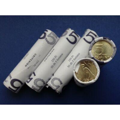 2019 5 forint 50 db UNC verdefényes érme rollniban