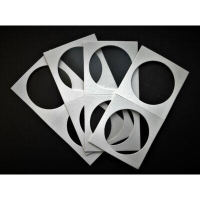 Érme tartó papír tasak, átlátszó ablakos 40 mm