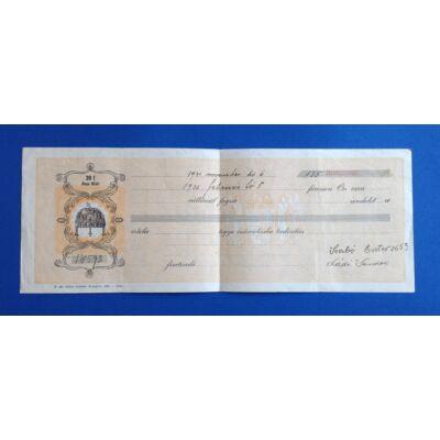 1931-es évjáratú Váltó 135 aranypengőről 20 fillér illetékkel Numizmatika - Értékpapír, váltó
