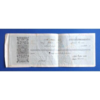1926-os évjáratú váltó 5 millió koronáról 10000 korona illetékkel