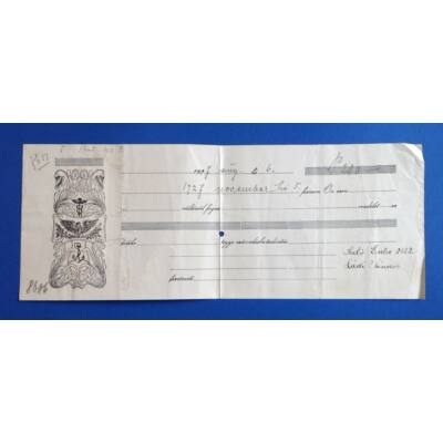 1927-es évjáratú Váltó 280 pengőről hátoldalán 30 filléres illetékbélyeggel Numizmatika - Értékpapír, váltó
